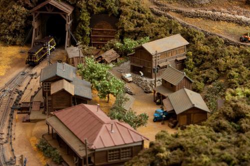鉄道模型モジュール建物 1