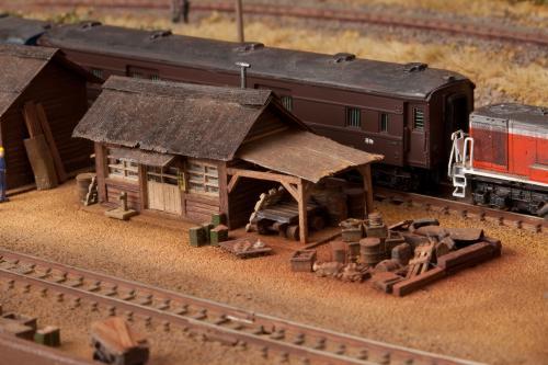 鉄道模型モジュール建物2