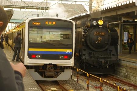 銚子駅 D51 209系