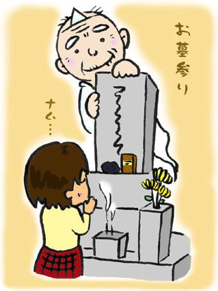 墓掃除イラスト[1]