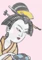 5浮世絵婦人手業拾二工機織り歌麿 (2)