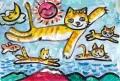 5猫のいる絵マイケルルー (1)