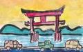 4湖中大鳥居白鬚神社(しらひげじんじゃ) (2)