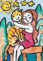 4猫のいる絵マイケルルー (8)