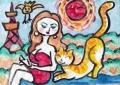 4猫のいる絵マイケルルー (7)