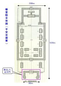 朝堂院全体図