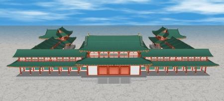 平安京応天門北側