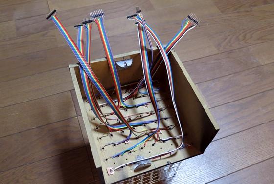 LED CUBE 足配線