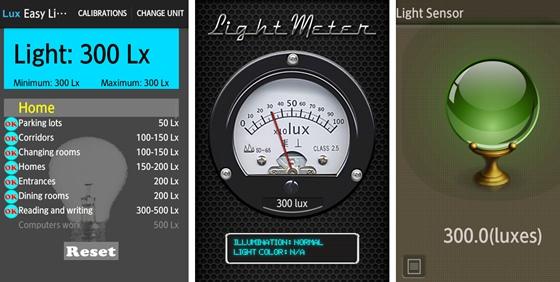 照度計アプリ
