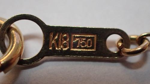 K18刻印ネックレス