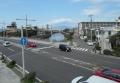 鵠沼橋の歩道橋から見た引地川