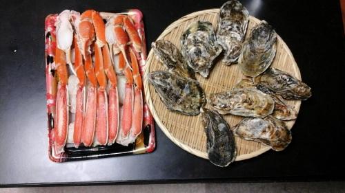 牡蠣とカニ