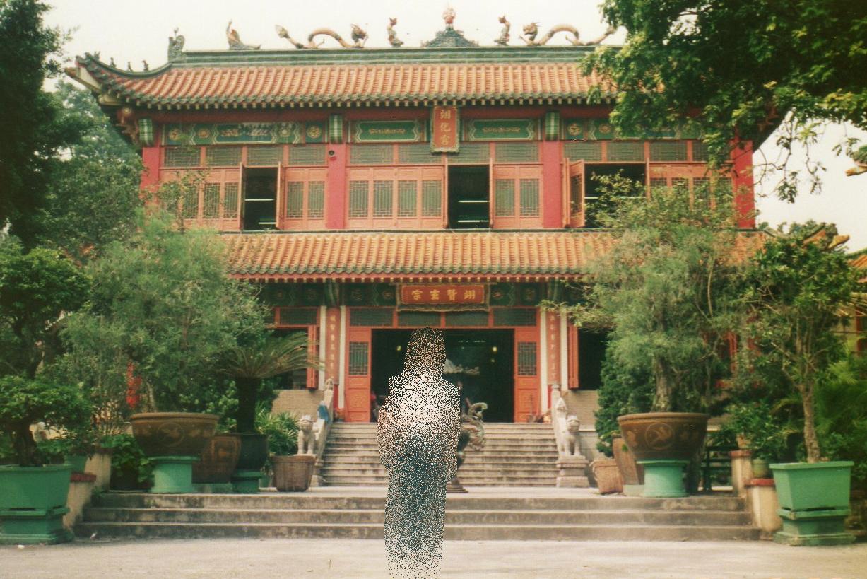 香港 屯門 青松観寺院②-x