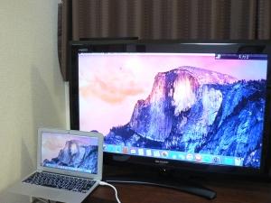 MacBook-Air_テレビ接続