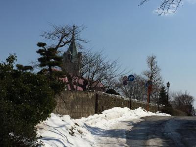 カトリック教会の裏道・函館