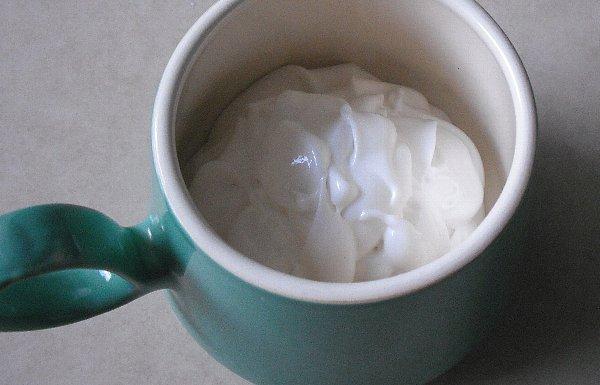 cream in a cup