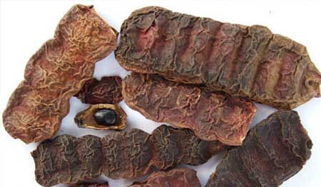 sikakai pod dried