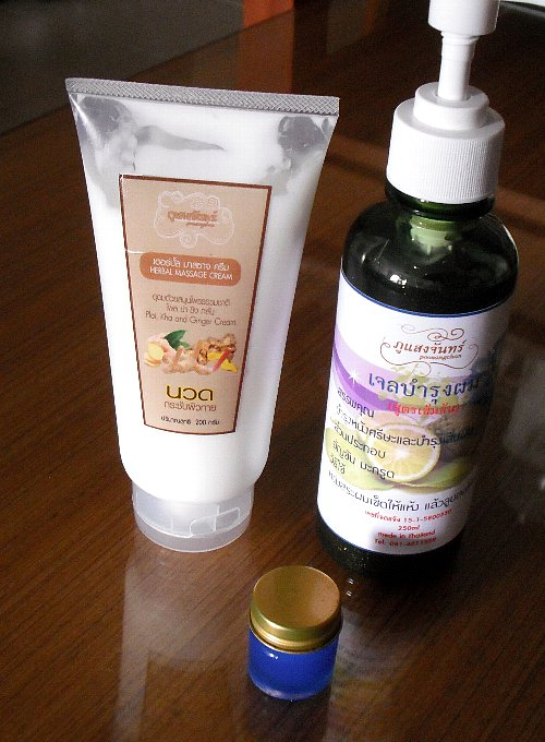 thai herbal products and balm