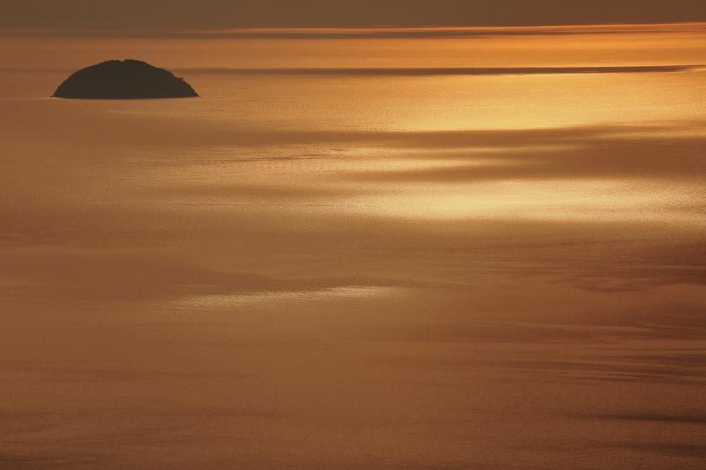 燧灘の夕暮れ