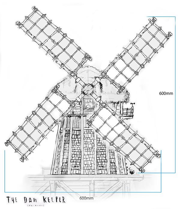 風車ジオラマサイズB