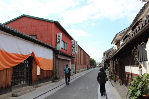 0062:倉敷アイビースクエア 街並みの奥に見えるレンガ建物