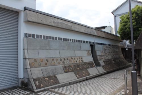 0063:大原美術館 城塀のような分館側の敷地境界塀①