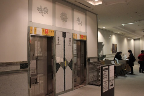 0076:千葉市美術館 美術館階エレベーターホール