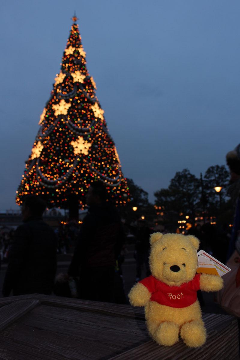 アメリカンウォーターフロント クリスマスツリーとプーさん151210