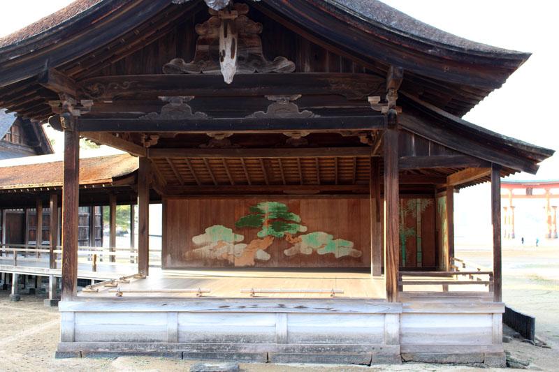 厳島神社・能舞台 160107