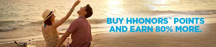 ヒルトンHオナーズ ポイント購入で60%~100%のボーナスポイント(ターゲット)