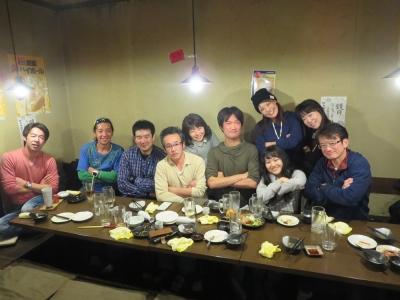 岡田さん、大橋さん、みほちゃん誕生日会集合写真