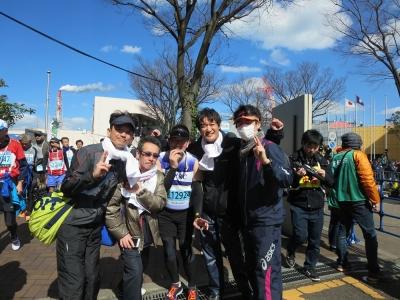 北九州マラソンゴール後集合写真