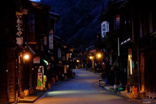 奈良井宿の夜景
