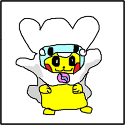 【お絵描き枠01】メガチルタリスピカチュウ小