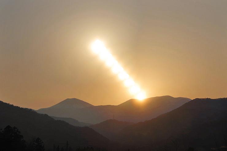 日没の日周運動