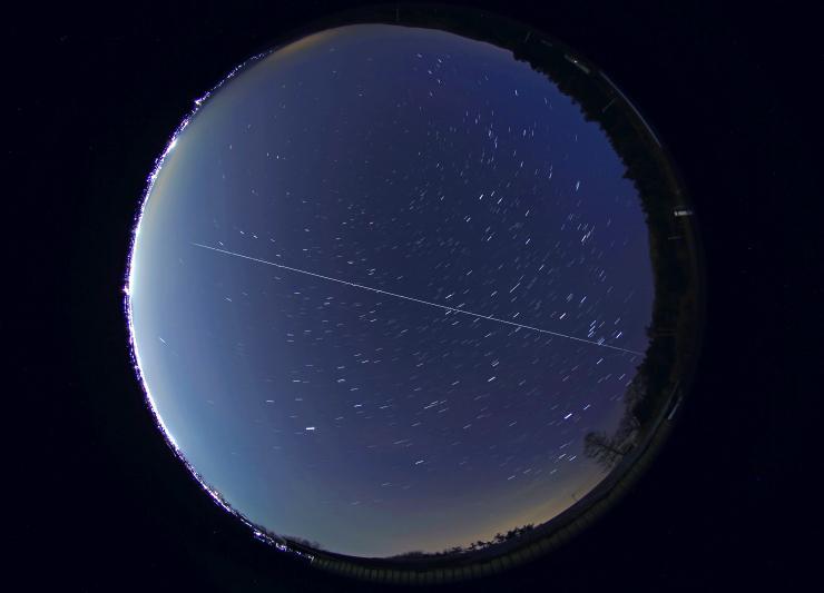 ISS、福島上空を通過