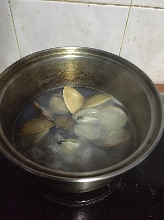 貝が開いて・・
