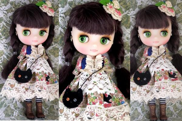 ◆ミディブライス服◆花畑と黒猫◇ 2