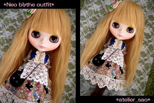 ◆ネオブライス服◆花畑と黒猫◇1