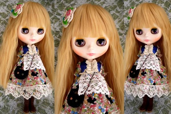 ◆ネオブライス服◆花畑と黒猫◇2