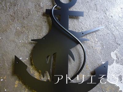イカリ+カジキマグロ妻飾り