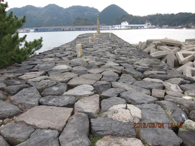 突堤部分 海側