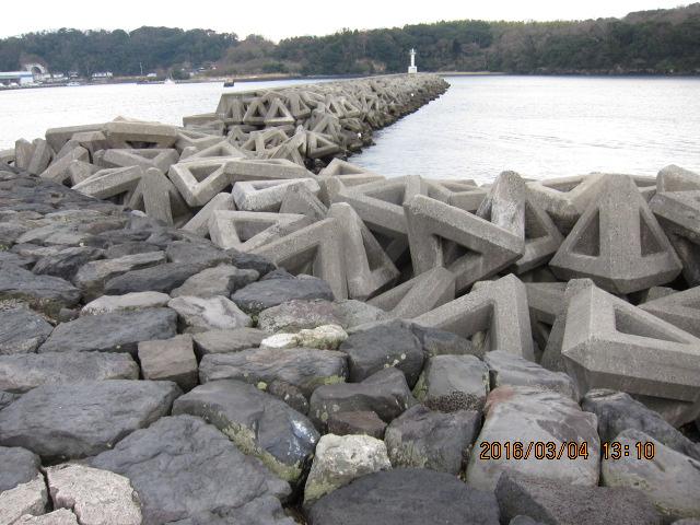 突堤の外海側