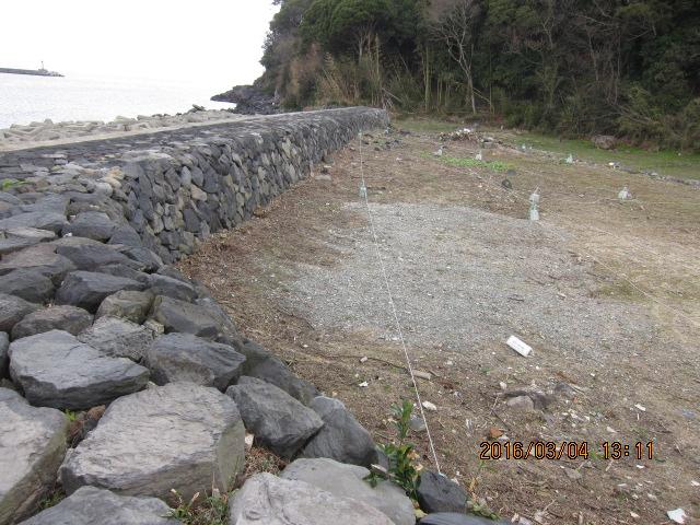 突堤部分陸側
