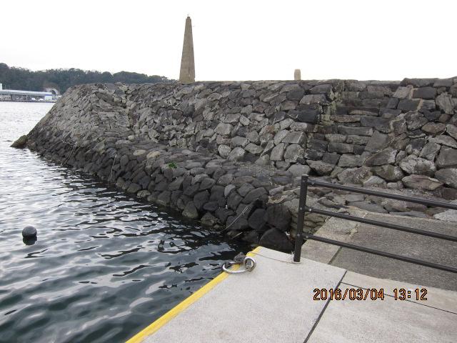 突堤部分の内海側