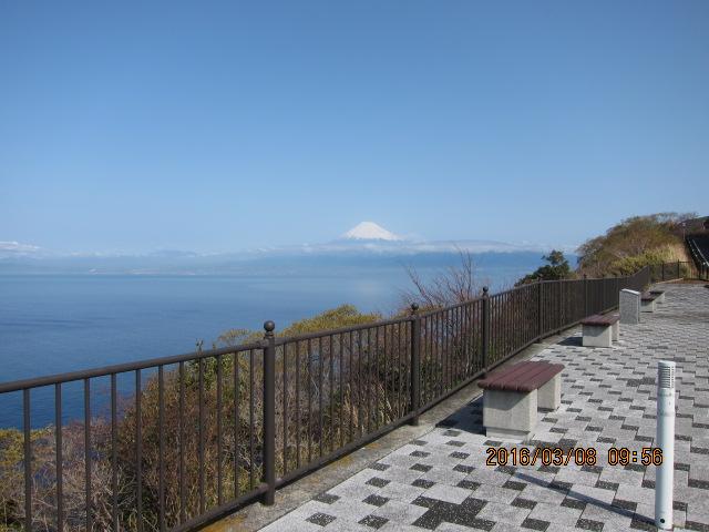 戸田温泉から見た富士山