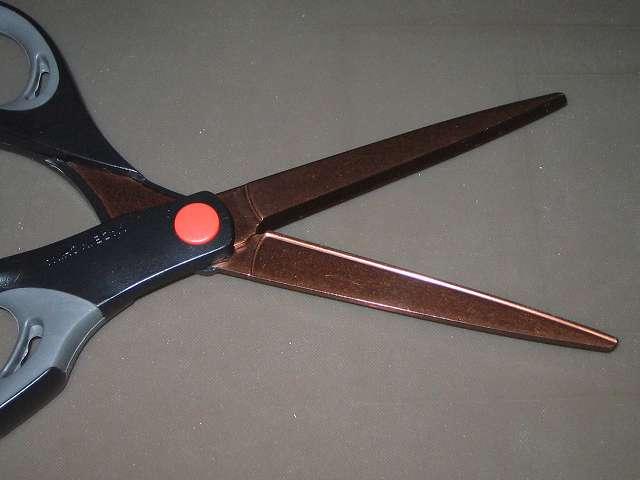 コクヨ ハサミ ロング厚刃 エアロフィット スペリオ チタン・グルーレス ハサ-PH240D チタンコート・グルーレス刃