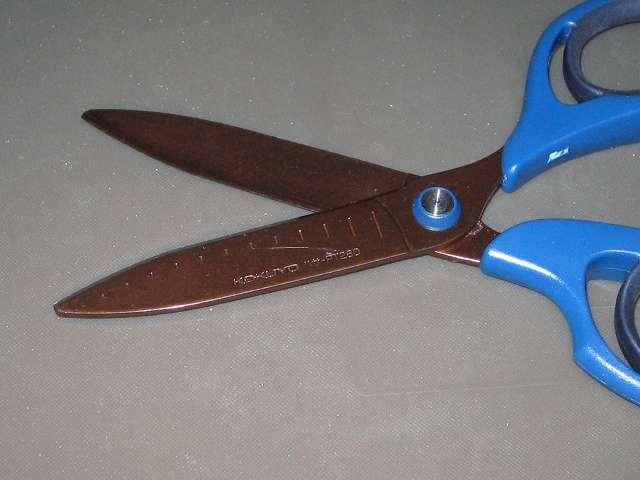 コクヨ ハサミ 切れ味長持ち エアロフィットサクサ チタン・グルーレス刃 ハサ-PT260DB チタンコート・グルーレス刃