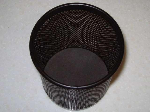 ナカバヤシ PS-M1BK パンチングメタル ペンスタンドペン立て 丸型 ブラック 内部、ペン先保護パッド付き