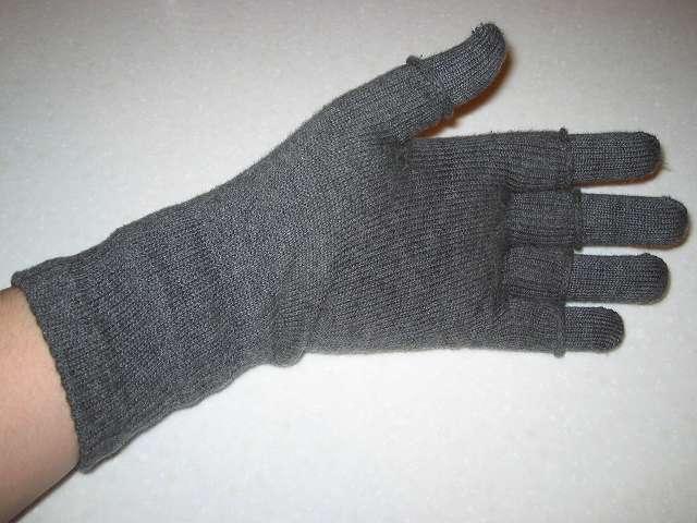 フィット手袋 + 841 ハンドウォーマー組み合わせ 手のひら側